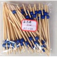 Brochettes de boules de bambou décoratives Collection de cocktails avec balle colorée
