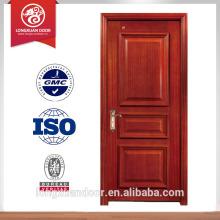 Vendas de fábrica design de porta de madeira sólida para casa de luxo preço de porta de madeira maciça