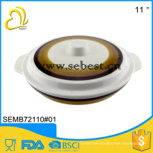 Round melamine soup bowl with lid