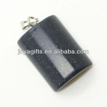 Semi precioso ouro azul pingente de pedra retângulo com alta qualidade