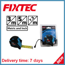 Fixtec 7.5m ABS-Stahlmaßband mit TPR-Kunststoffgummi