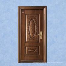 Nuevo diseño de puerta de seguridad de acero cobre de imitación