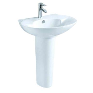 Sanitary Ware White Ceramic Pedestal Bathroom Basin (D2204A)