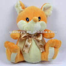 animales de peluche de fox felpa preciosa amarilla con bowknot