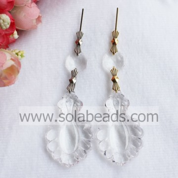 30 * 50mm Plastic Crystal verlichting guirlande Drop