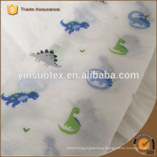 100% factory organic cotton bule baby blanket for baby