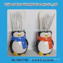 Cerâmico, utensílio, suporte, pinguim, FORMA