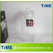 Aufbewahrungsglas mit versiegeltem Glas und Glasdeckel