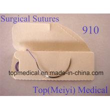 Sutura quirúrgica con aguja - Polyglactin 910 Sutura trenzada