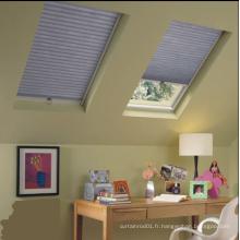 Rideau de fenêtre de toit en coton en nid d'abeille