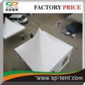 Tente de mariage de 5 m par 5 m en blanc avec cadre en aluminium et porte à roulement en pvc
