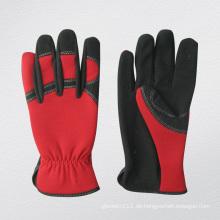 Micro Fibre Spandex zurück Rot Mechaniker Handschuh-7210