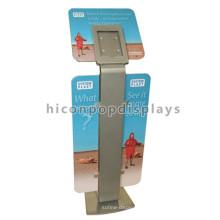 Kundenspezifische zwei Flügel-Beschilderung-Handy-Einzelhandelsgeschenk-Metallfußboden-stehender Tablette-Ausstellungsstandplatz
