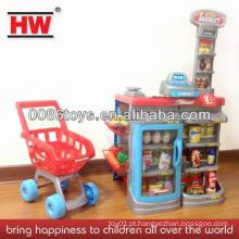 QUENTE!!! Crianças super mercado jogar definir carrinho de compras