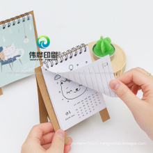 Promotional Custom Full Color Printing 2020 Paper Table Calendar