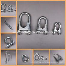 DIN741 Maleable Galvanizado Tipo Tornillo de la Cuerda de Alambre clip