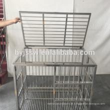Vente directe d'usine de bonne qualité Cage de chien de barre d'acier inoxydable