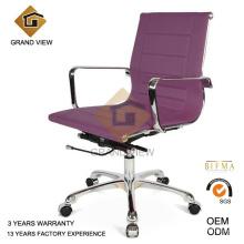 Aéroport de violet en cuir bureau chaise visiteur (GV-OC-L132)