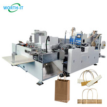 Rope Paper Bag Handle Pasting Machine Fully Automatic Making Twisted Paper 33-37pcs/min Hot-melt Glue Siemens Easy Opreation