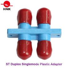 St Duplex Singlemode Adaptateur fibre optique standard en plastique