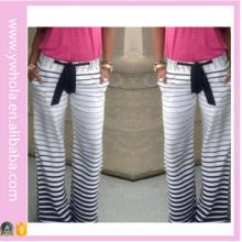 Vente en gros de pantalons à rayures féminines féminines