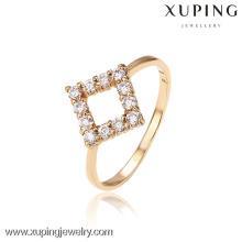 12503-Xuping moda à moda senhora festa anéis de forma quadrada