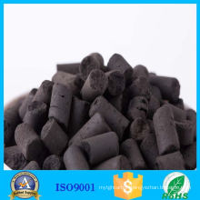 Columnar activated carbon sulfur removal