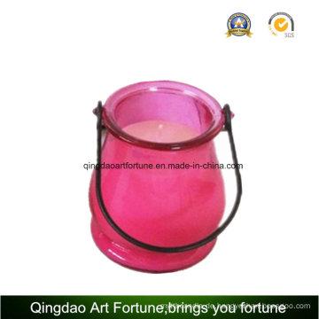 Garten Glas Laterne mit Citronella Kerze für Outdoor und Garten
