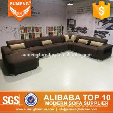 european style cheap living room furniture u shape fabric sofas set for sale