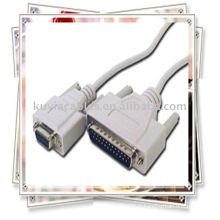 DB9 femelle à DB25 mâle câble modem null