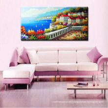 Pinturas del océano de la calidad de Musuem, arte de la pared de la pintura de la mano del mar Mediterráneo