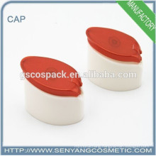 2015 red and white plastic caps for bottles plastic hole cap