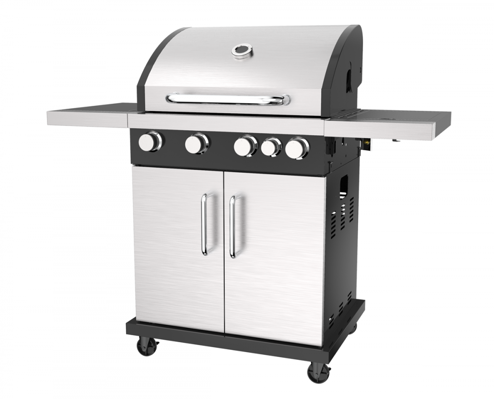 Double Layer Door Gas Barbecue Grill