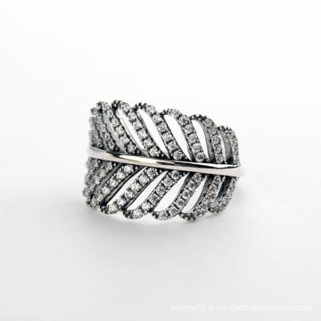 Trendy Hot Products 2016 Bague en diamant de mode 925 Bague en cristal sterling d'argent sterling avec diamants