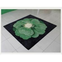 Green Color Wool Bedroom Carpet Dmy-O15