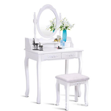 White Wood Mirror Almirah Simple Designs wooden dressing table