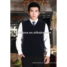 colete de camisola masculina de cashmere