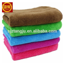 velo coral da fibra do micro fibra que limpa a toalha dos trapos