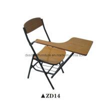 Silla plegable de los muebles de la sala de clase de madera con el tablero de escritura