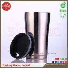 350 мл Вакуумная пивная кружка из нержавеющей стали для теплого / холодного напитка