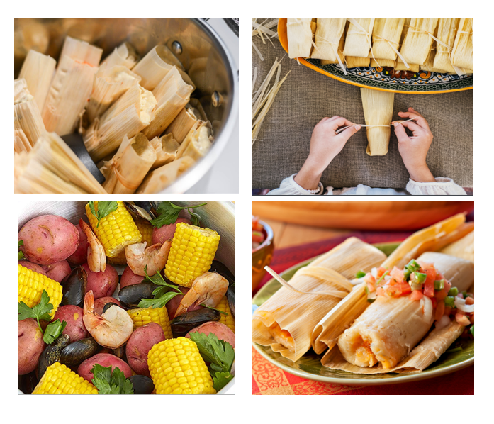 Mexican tamale corns steamer