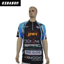 China Factory 100% Polyester Sports Wear Fishing Jersey for Mens