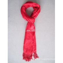 Charming viscose plain red scarf fashion