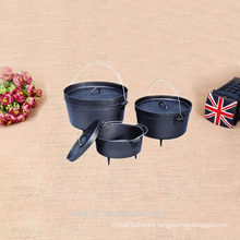 non enamel cast iron camping dinnerware set