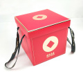 boîte cadeau pliable en papier avec ruban gros-grain