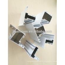 Perfis de alumínio revestido em pó