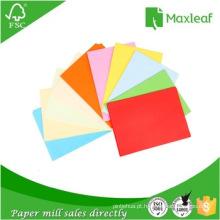 Papel de impressão colorido A4 fluorescente 75GSM Papel de impressão