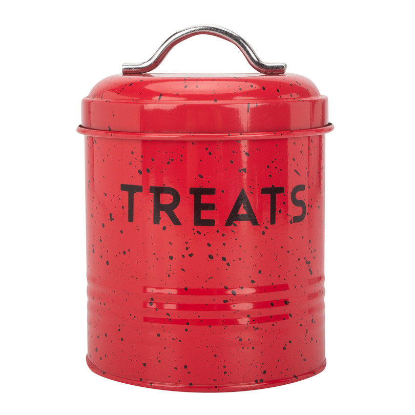 Red Pet Food Container