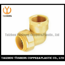Female Brass Lead Free Quick-Connect Elbow Fittings (YS3006)