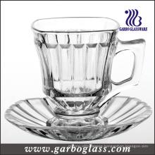 Glass Mug & Saucer Set /Tea Set (TZ-GB09D1405H)